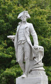 Christchurch, New Zealand - Statue of Captain James Cook — Stock Photo