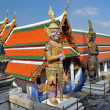 Giant Mosaic Figures Guard Temples at Grand Palace. — Stock Photo #16805327