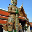 Giant Mosaic Figure Guards the Temples at the Grand Palace. - Stock Photo