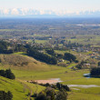 Постер, плакат: Canterbury Plains stretching from Port Hills to the Southern Alp