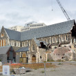 Stock Photo: Christchurch Anglican Cathedral In Ruins, New Zealand
