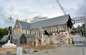 Christchurch Anglican Cathedral In Ruins, New Zealand — Stock Photo