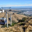 Christchurch Gondola from Top of The Port Hills, New Zealand — Stock Photo