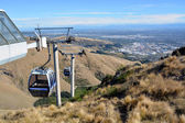 Christchurch gondola von oben über die port hills, new zealand — Stockfoto
