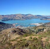 Lyttleton Port Town & Harbour Christchurch, New Zealand. — Stock Photo
