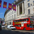 Red Double Deck Bus in Regent Street, London UK — Stock Photo #30522805