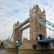 London Bridge from the North Bank of the Thames River, London — Stock Photo