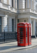 Red London Telephone Boxes at Lancaster Gate — Stock Photo