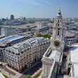 St Paul's Cathedral Clock Tower Panorama of London. — Stock Photo