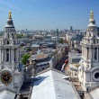 The City of London Viewed through the Twin Towers of St. Paul's — Stock Photo