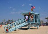Babe Watch at the Life Guard Hut at Venice Beach — Stock Photo