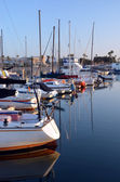 Marina Del Rey Harbour and Yachts at Dawn. — Stock Photo