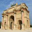 The Arc de Triomphe du Carrousel built in 1806 for Napoleon. — Stock Photo