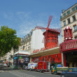 The Famous Moulin Rouge Nightclub in Monmatre, Paris France. — Stock Photo