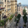 The Beautiful Buildings & Apartments of Monmatre, Paris France. — Stock Photo