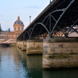 Stock Photo: Pont Des Arts Bridge & Institut de France Building, Paris France