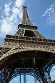 Detailed View of the Eiffel Tower from Underneath. — Stock Photo