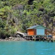 Stock Photo: Boat House in Marlborough Sounds, New Zealand.