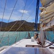 Stock Photo: Sailing on Marlborough Sounds, New Zealand