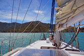 Sailing on the Marlborough Sounds, New Zealand — Stock Photo