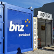 Stock Photo: Christchurch Earthquake Rebuild - Portable Container Bank.
