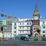 Christchurch Earthquake Rebuild - Diamond Jubilee Clock Tower. — Stock Photo