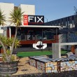 Stock Photo: Christchurch Earthquake Rebuild - Red Fix Expresso Bar Opens on