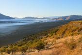 The Waitaki Valley at Dawn, Otago, New Zealand. — Stock Photo
