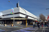 Christchurch Earthquake Rebuild - Ballantynes Store First To Ope — Stock Photo