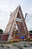 Cardboard Cathedral Takes Shape In Christchurch, New Zealand — Stock Photo