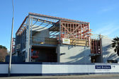 Christchurch Earthquake Rebuild - New Carlton Hotel Takes Shape. — Stock Photo