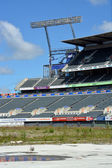 Christchurch Rebuild - Lancaster Park Awaits Demolition. — Stock Photo