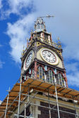 Repairs Start on Iconic Diamond Jubilee Clock Tower in Chrsitchu — Stock Photo