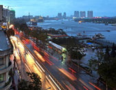 Saigon River in the Early Evening, Vietnam — Stock Photo