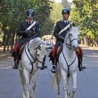 Stock Photo: Horse mounted Police Borghese Gardens, Rome Italy