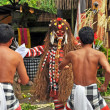 Warriors Fight With Rangda in Barong Dance, Bali Indonesia — Stock Photo #43333345