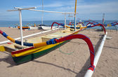 Bali Fishing Boat on the Beach at Sanur, Indonesia. — Stock Photo