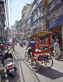 Chandri Chowk Market in Old New Delhi, India — Stock Photo