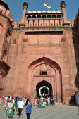 The Gates of the Massive Red Fort in Delhi, India — Stock Photo