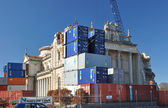 Christchurch Earthquake - Saving The Catholic Cathedral with Con — Stock Photo
