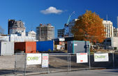 CBD Buildings Await Demolition, Christchurch New Zealand — Stock Photo