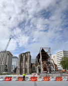 Christchurch City Anglican Cathedral Ruins — Stock Photo