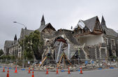 Christchurch Earthquake - Cranmer Square Building Collapses — Stock Photo