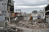 Christchurch Earthquake - Southern CBD Destroyed — Stock Photo