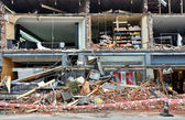 Christchurch Earthquake - Merivale Shops Destroyed — Stock Photo
