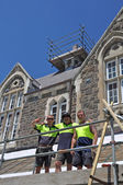 Christchurch Earthquake - Repairs at Historic Christ's College — Stock Photo