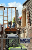Christchurch Earthquake - Construction Workers — Stock Photo