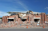 Christchurch Earthquake - Brick Factory Destroyed — Stock Photo