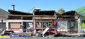Take-away Hell, Christchurch Earthquake Damage. — Stock Photo