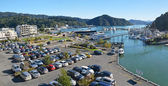 Panorama of Picton Town and Marina on an Autumn Morning. — Stock Photo